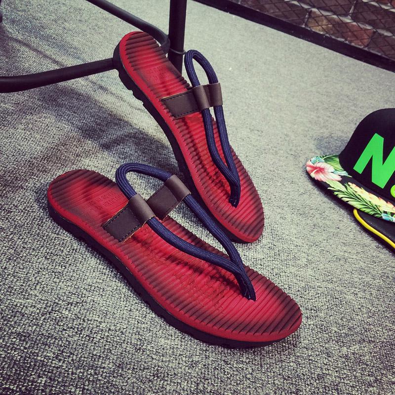 夏季新款沙滩拖鞋男人字拖男潮流韩版个性防滑外穿男士凉鞋凉拖鞋
