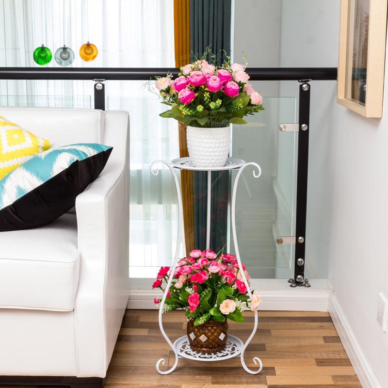 欧式铁艺花架多层落地式阳台室内客厅花架子特价包邮