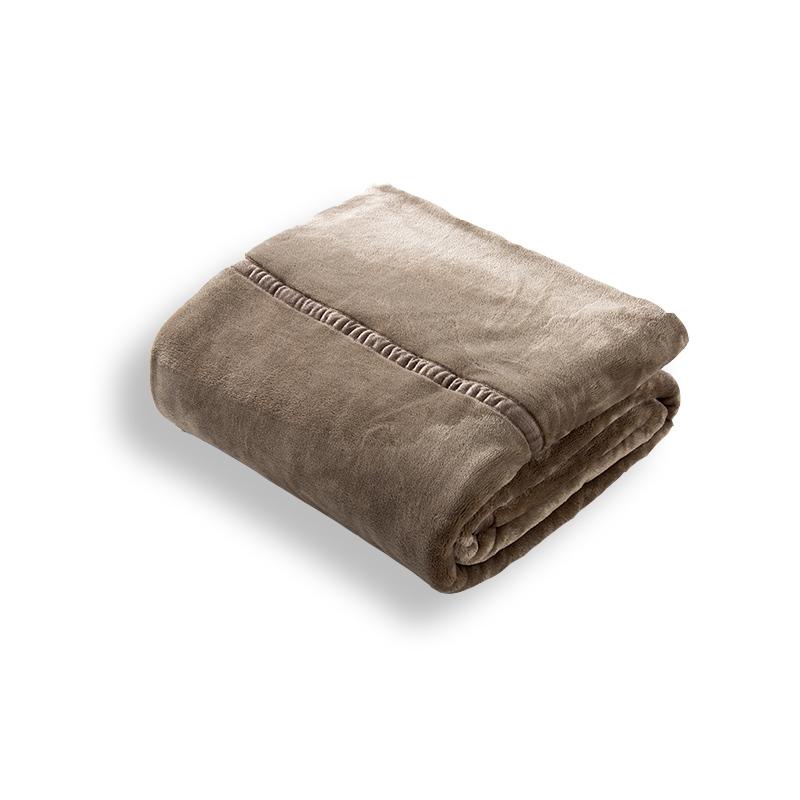 出口良品无印法兰绒毛毯双层加厚拉舍尔毯子单双人儿童珊瑚绒床单