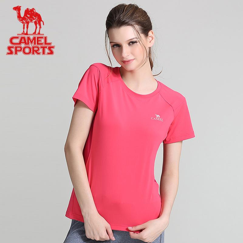 骆驼短袖T恤男士女士快干衣夏季透气款健身跑步上衣运动户外半袖