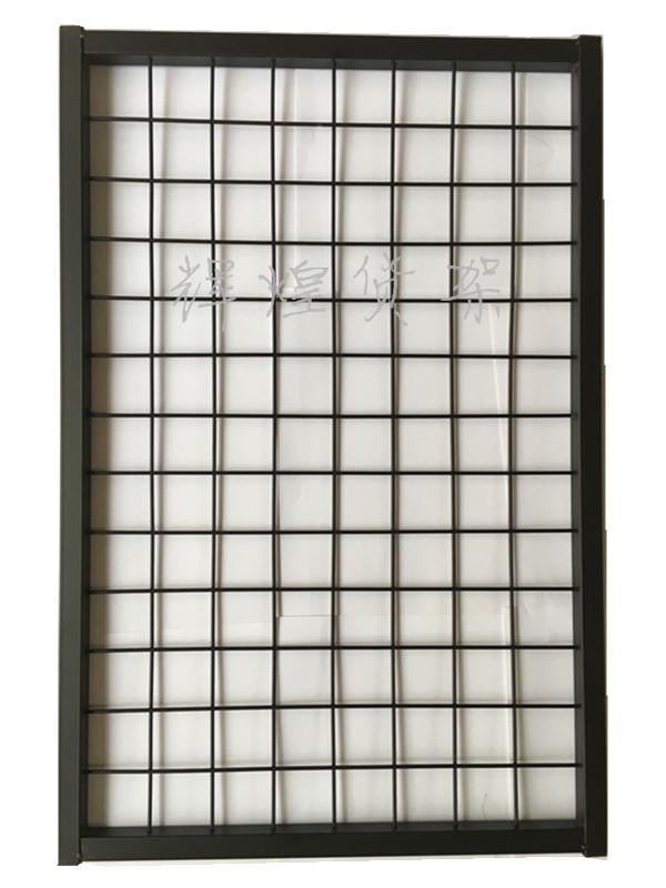 带框网片网格挂货网架饰品架上墙展示架照片墙幼儿园展架吊顶隔断