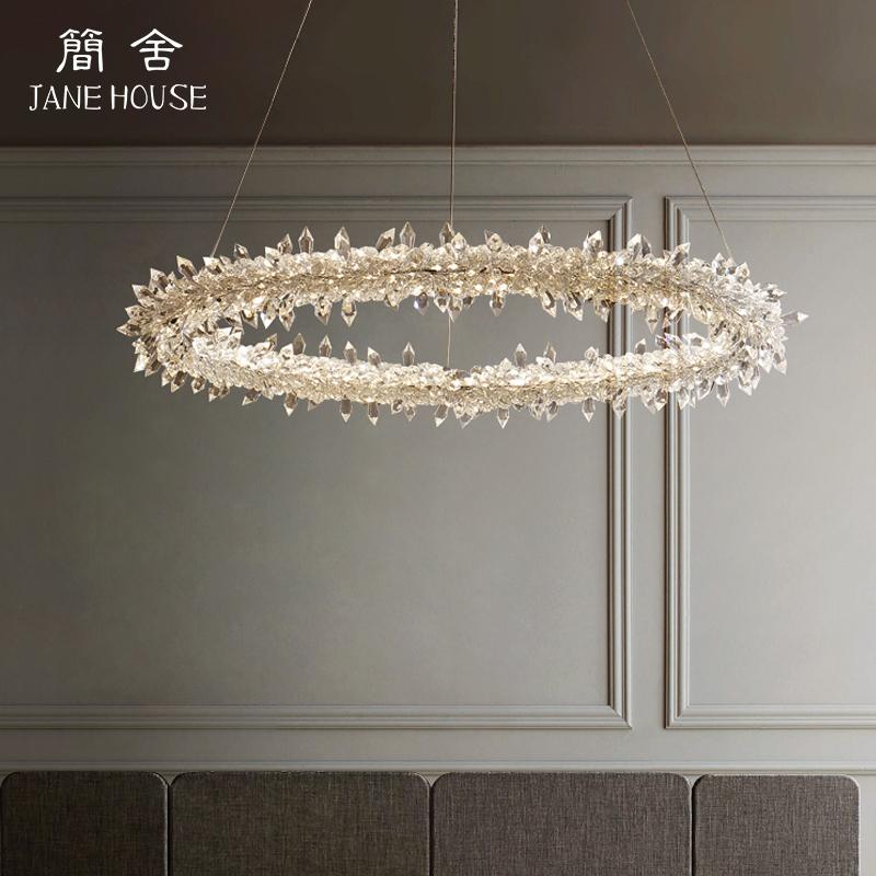 餐厅北欧灯具水晶吊灯