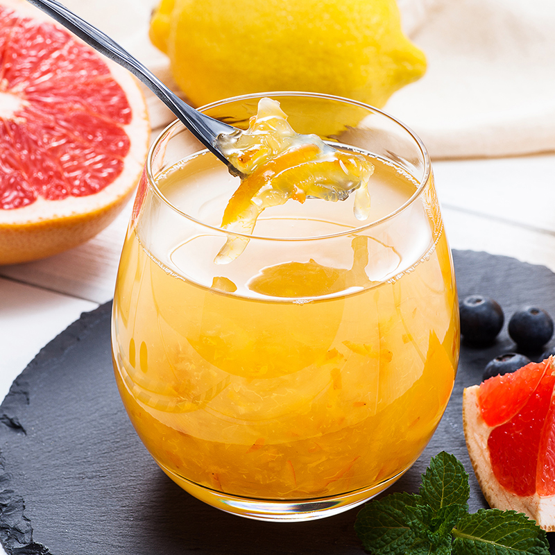 福事多蜂蜜柚子茶柠檬茶百香果茶240g泡水喝的饮品冲饮冲泡冲水喝