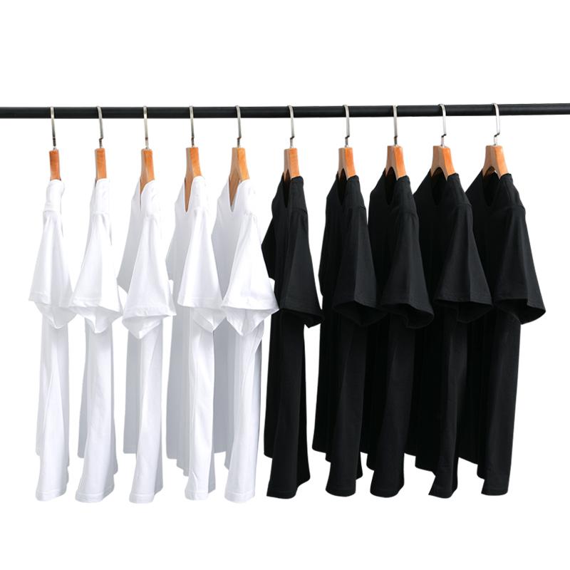 定制t恤印字logo纯棉刺绣文化衫订制短袖来图定做班服diy工作衣服