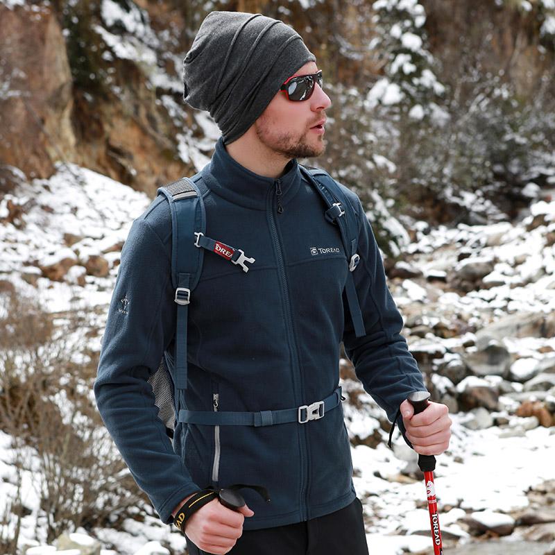 秋季正品探路者抓绒衣男款户外开衫保暖冲锋衣内胆外套运动登山服