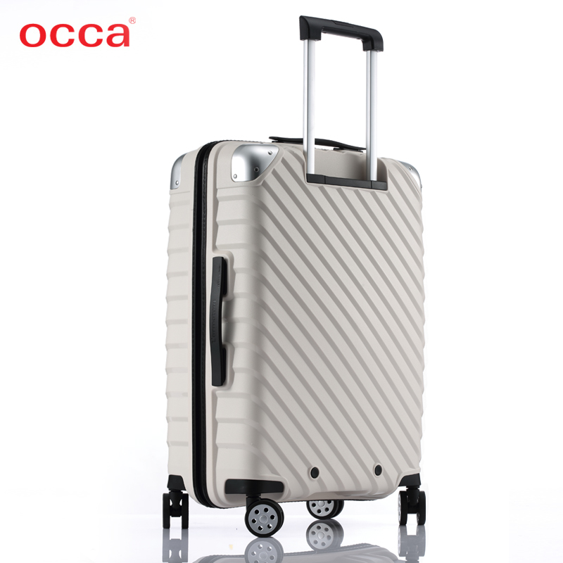 风时尚行李箱 ins 材质拉杆箱轻便拉链箱 pp 寸 20 新款智能可充电 OCCA