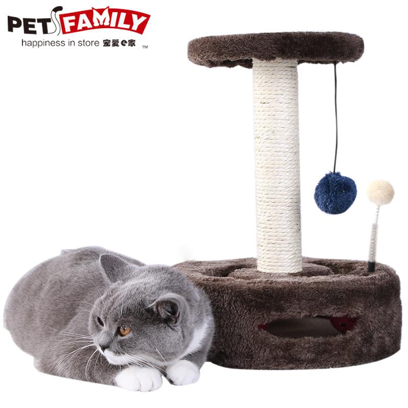 剑麻猫爬架小型猫咪剑麻柱实木跳台猫架猫窝猫树猫咪磨爪猫玩具