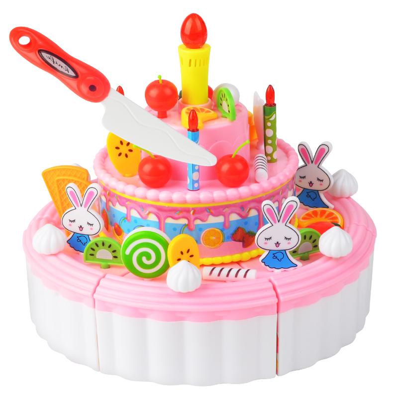 过家家生日蛋糕玩具儿童仿真蛋糕水果切切乐切切看玩具小女孩玩具