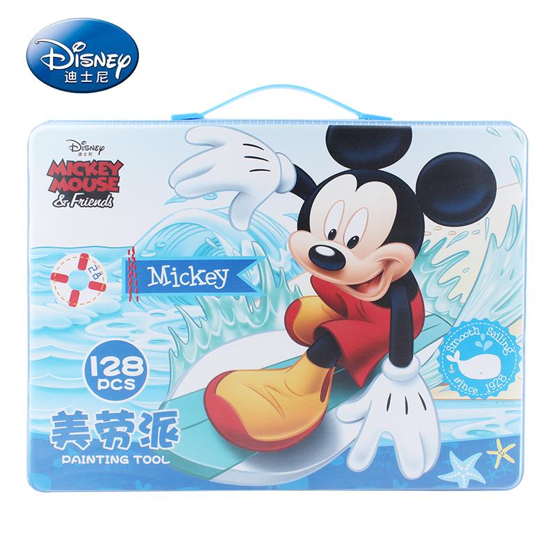 迪士尼文具礼盒套装绘画用品儿童绘画套装小学生文具套装开学礼物美劳派128件大礼包