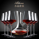 High-end handmade crystal Bordeaux red wine glass goblet creative suite luxury European-style white wine cup home