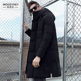 Cotton jacket male tide 2019 new fall and winter clothes men's thick winter coat long section down padded winter