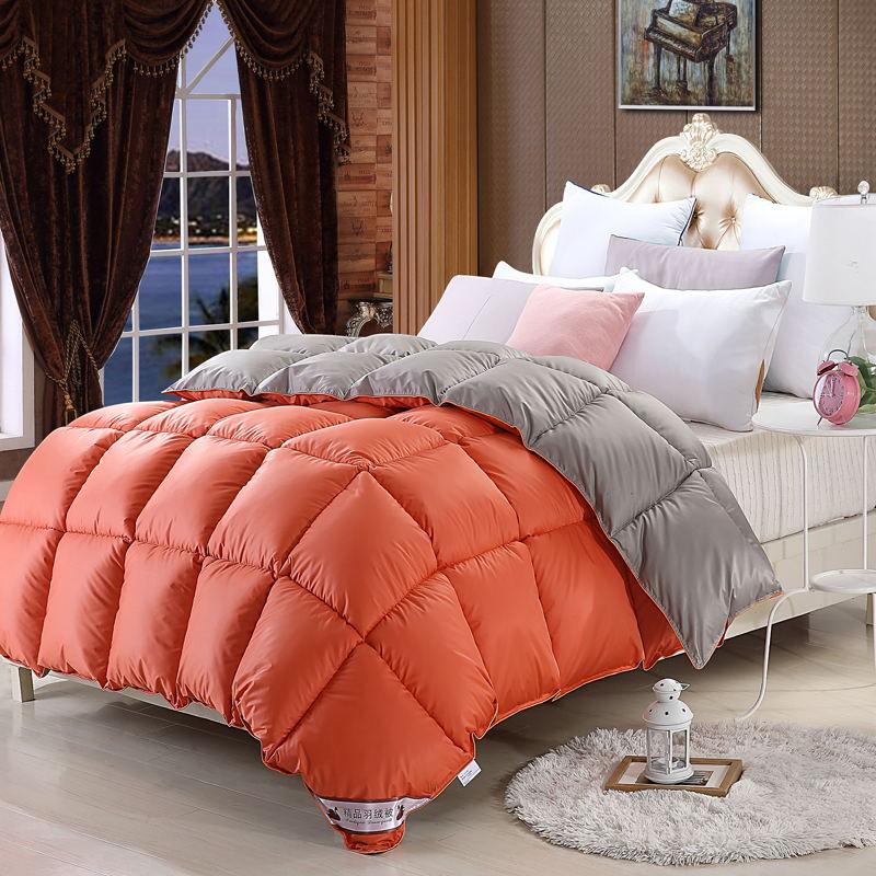厂家直销95羽绒被酒店被子白鹅绒6/8斤加厚冬被春秋被芯保暖被子