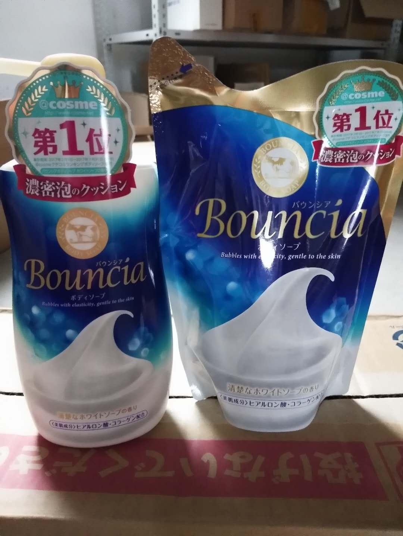 五皇冠 日本原裝COW牛乳石鹼 濃密泡沫沐浴露瓶550ML/替換裝430ML