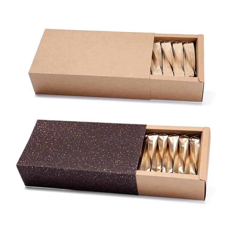 现货牛皮纸盒抽屉盒阿胶糕长方形礼品包装盒子花茶茶叶小礼盒定制