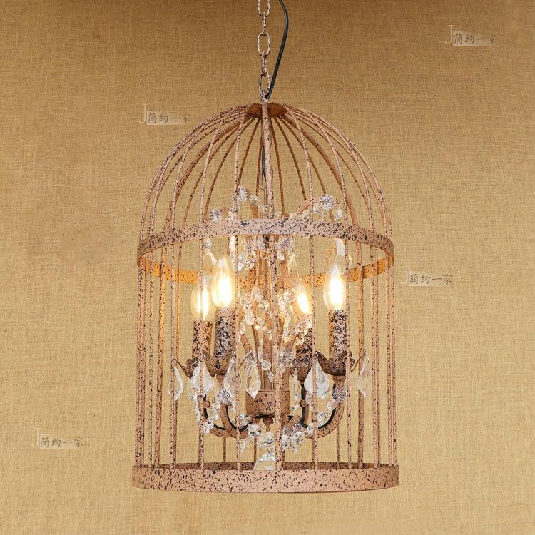 美式简约复古怀旧创意鸟笼吊灯餐厅吧台咖啡厅吊灯个姓工业风吊灯