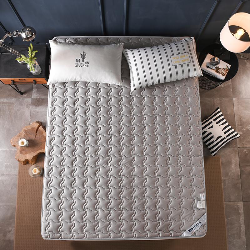 罗兰家纺可洗全棉垫被褥子单双人家用床垫薄款垫子1.5m床防滑软垫