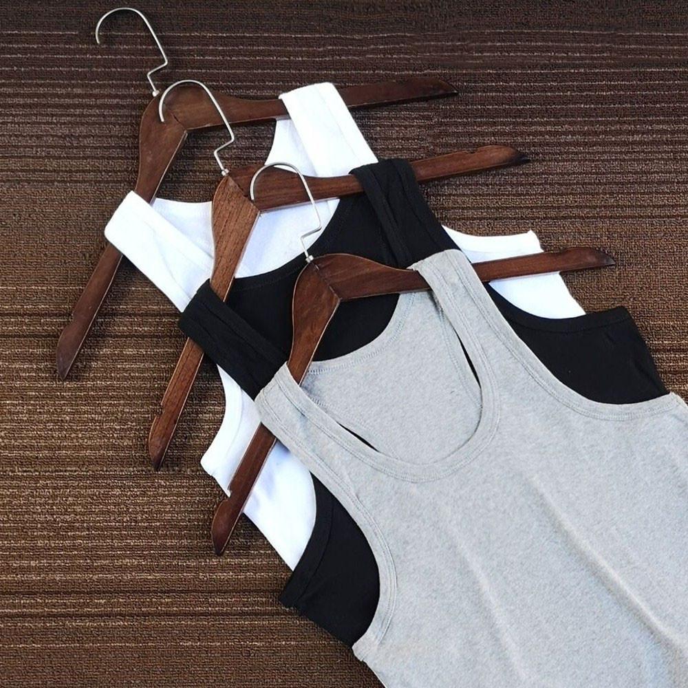 (3件装)男士汗背心夏季圆领工字运动印花薄款汗衫紧身弹力青年