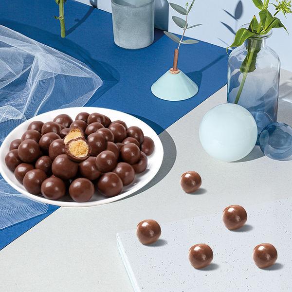 卜珂麦丽素桶装怀旧黑巧克力夹心麦芽脆心球零食朱古力糖果送儿童 - 图2