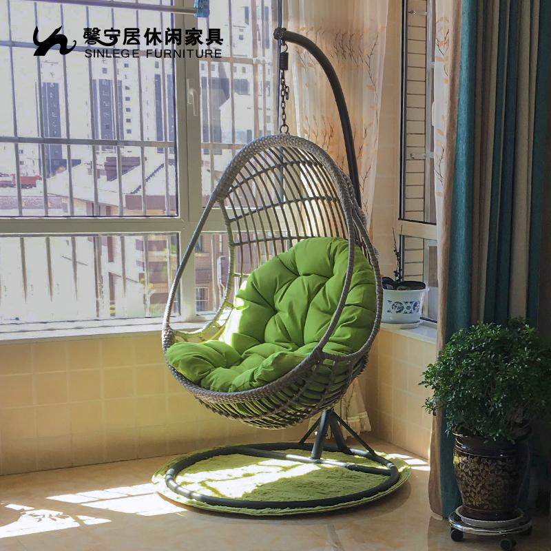馨宁居 鸟巢吊篮藤椅室内阳台吊床客厅户外秋千摇椅成人单人吊椅