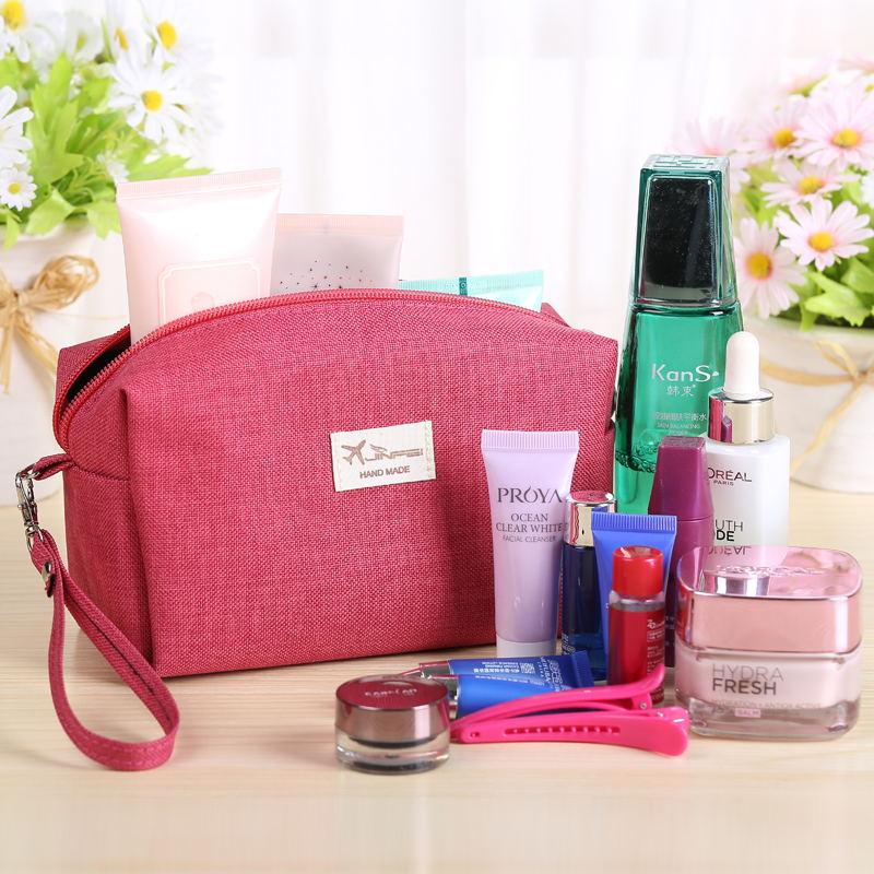 韓國化妝包小號便攜簡約手拿包化妝袋包郵防水收納包大容量零錢包