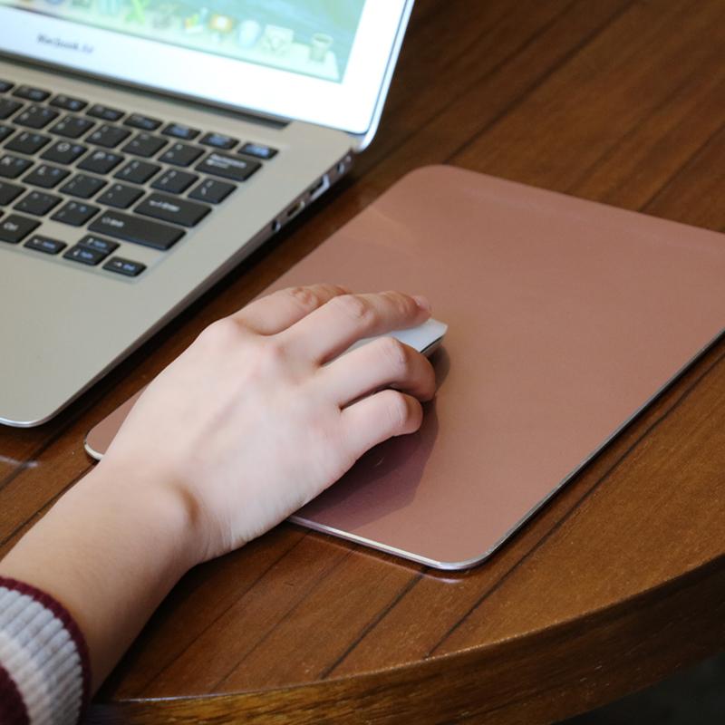 批量定制礼品 生日礼物笔记本金属鼠标垫苹果电脑铝合金办公硬质