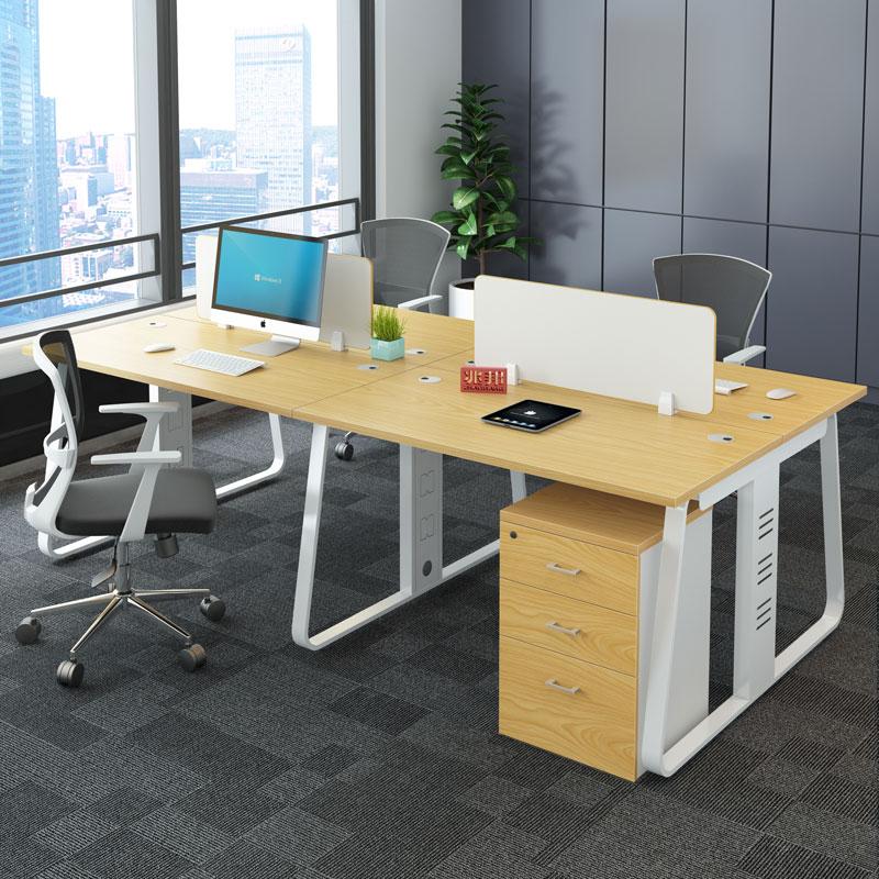 兆邦职员办公桌 办公室办公家具 员工工作位双人四人屏风办工桌椅