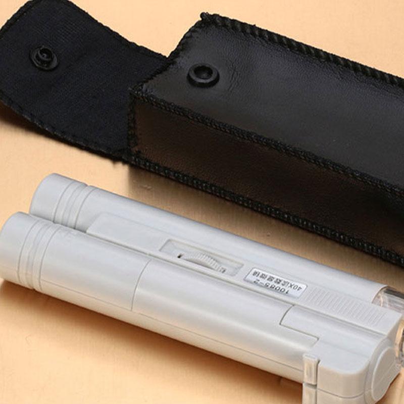 风行户外10085-2手持式显微镜放大镜80倍带刻度读数带灯迷你包邮