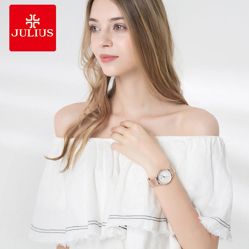 新款女士手表简约专柜正品名牌夜光腕表 2018 聚利时手表女 julius