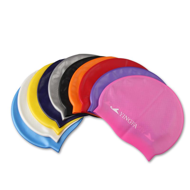英發品牌正品純色顆粒防水矽膠泳帽 粉色藍色黃色