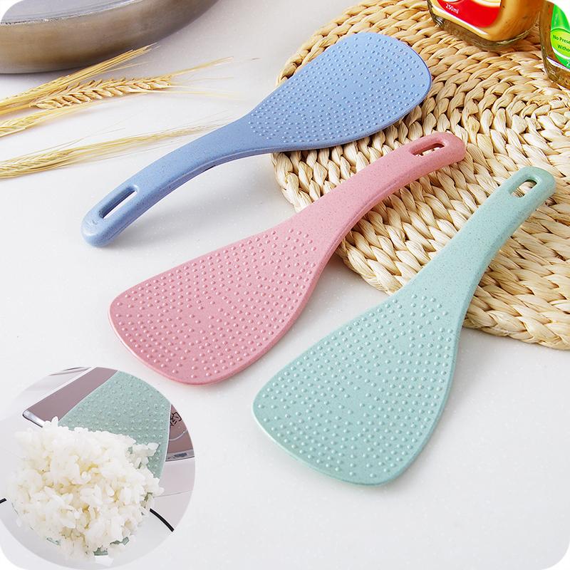 優思居 小麥秸稈飯勺 塑料不粘米飯勺創意廚房盛飯勺子電飯煲飯鏟