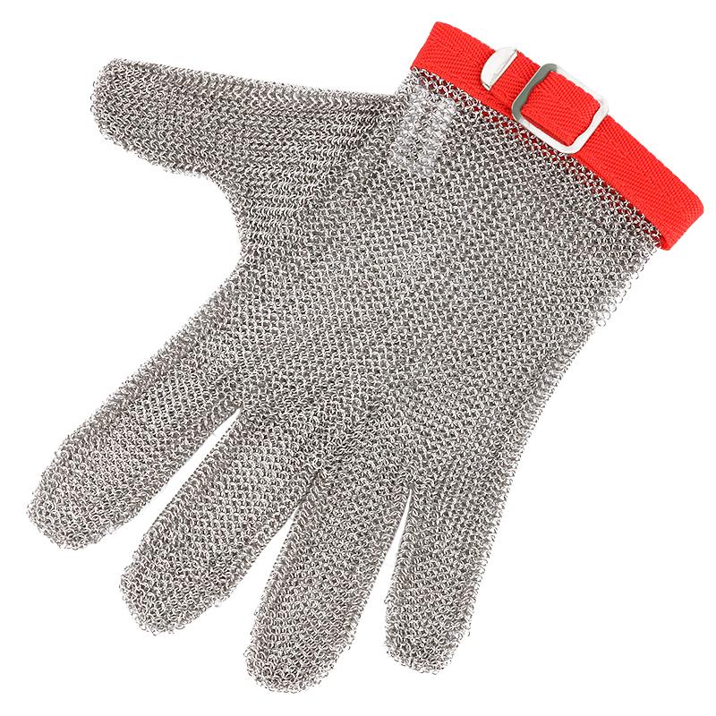 HongCho防割钢丝手套 防切割防护钢环手套 不锈钢金属杀鱼手套