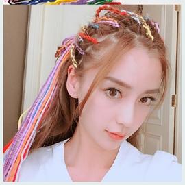 编头发的彩绳子彩色编发绳头绳神器扎辫子发带韩国头饰网红绑头发