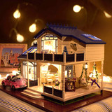 Hand-made Valentine's Day creative diy hut assembled model house large villa birthday gift to send girls