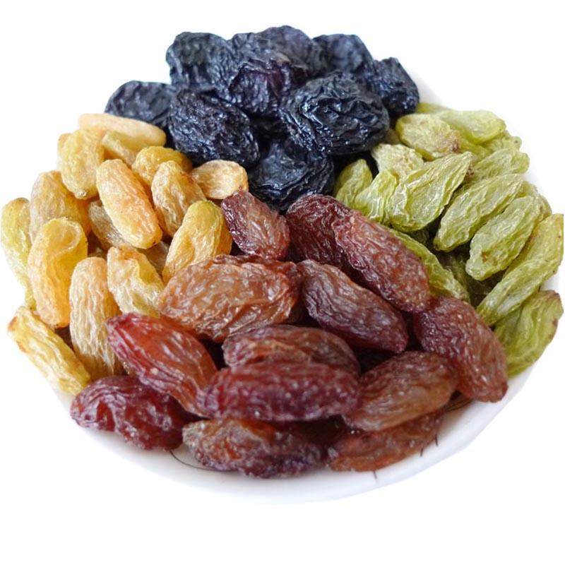 白胡子新疆特产吐鲁番新货混合四色葡萄干500g*2袋提子干果零食包