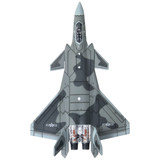 Telbo 1: 120 J-20 aircraft model assembly toy J20 alloy fighter military aircraft model decoration