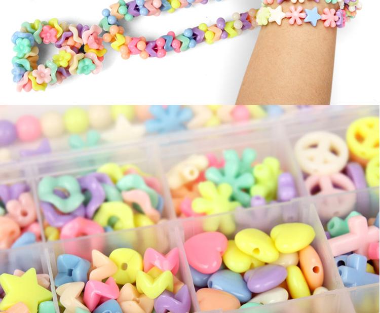 儿童串珠玩具宝弱视训练穿珠女孩项链手链手工材料包益智EF26001