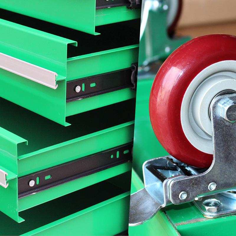老A 5层抽屉工具车手推车汽修汽维修车带锁工具柜工具架子层零件
