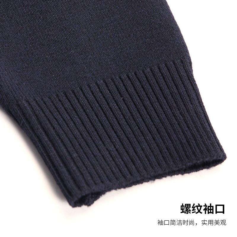 保暖秋装上衣男士针织衫中年40-50岁老人圆领加厚爸爸装毛衣男装