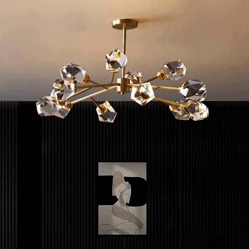 轻奢创意餐厅水晶灯具