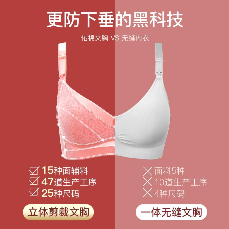 哺乳内衣聚拢防下垂女夏季薄款孕妇文胸喂奶怀孕期纯棉舒适胸罩浦