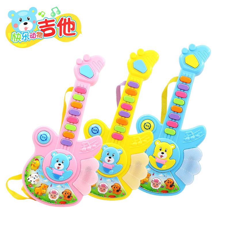 多功能按键卡通音乐吉他宝宝电子琴早教益智乐器儿童玩具0-1-3岁