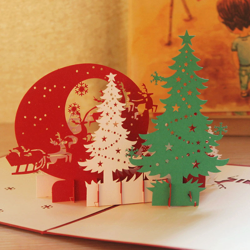 buy 2016 christmas gift ideas 3d three dimensional greeting cards chinese style birthday holiday business greeting postcards small card in cheap price on