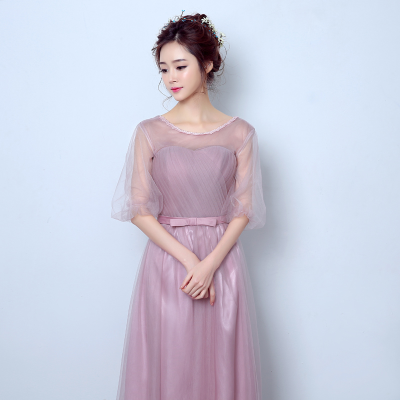 73d693677041 Buy 2016 new elegant bridesmaid dress party dress long section sleeve korean  version of the host evening dress party dress women in Cheap Price on ...