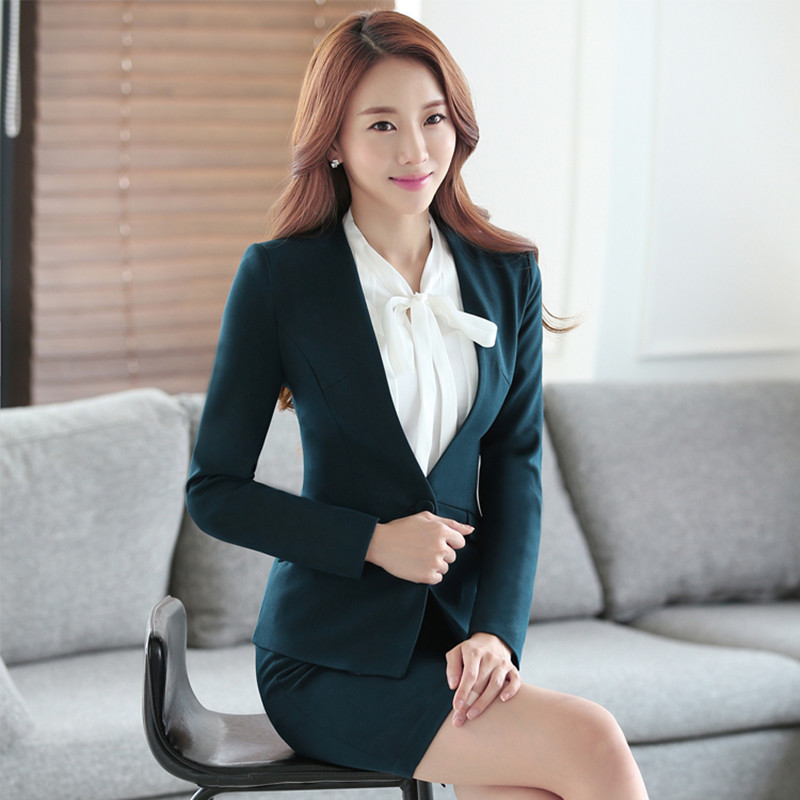 5ed1add118e Buy 2016 new korean women wear skirt suit interview suit business suits  long sleeve work overalls female dress coat in Cheap Price on m.alibaba.com