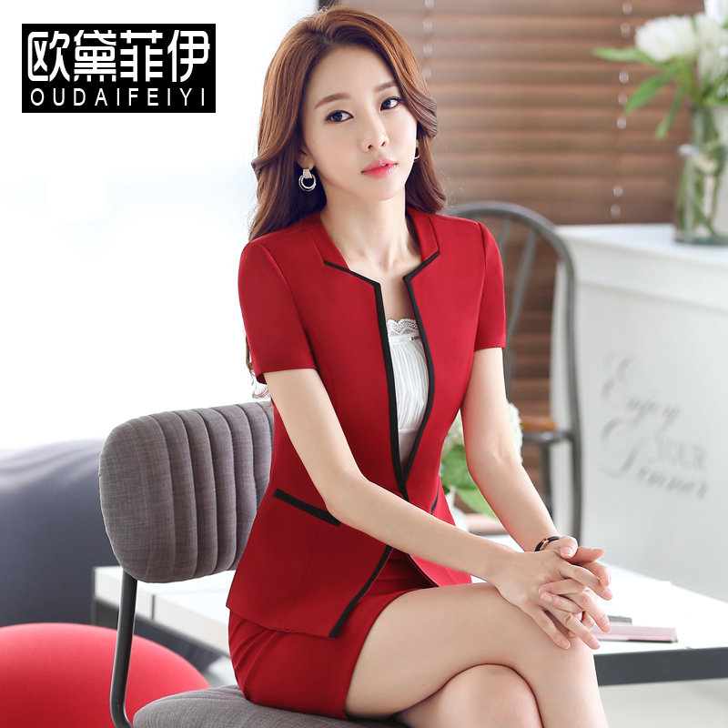 86b25a82dae3 Buy 2016 new summer wear women  39 s skirt suits overalls interview dress  fashion ol temperament slim short sleeve in Cheap Price on m.alibaba.com