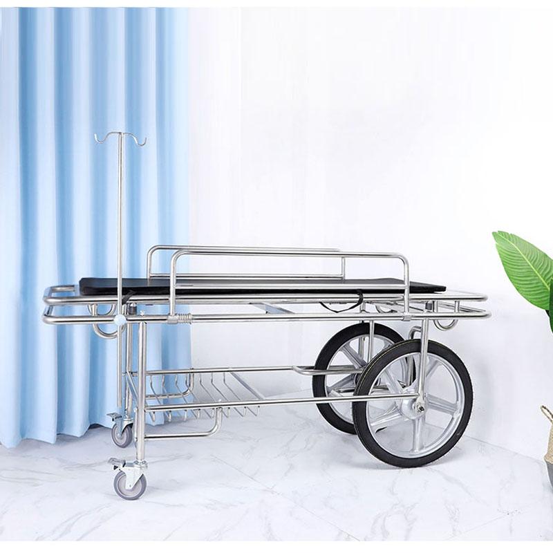 医用丙人急救车担架车抢救床救护担架床四小轮推车转运不锈钢平车