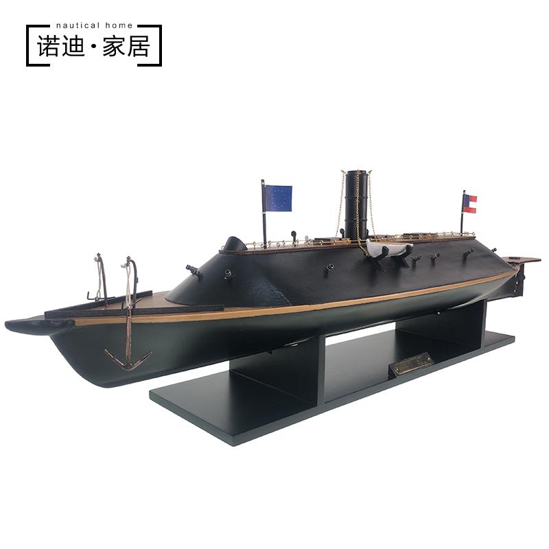 美国内战南北战争铁甲战舰弗吉尼亚号摆件办公室船模型工艺品船