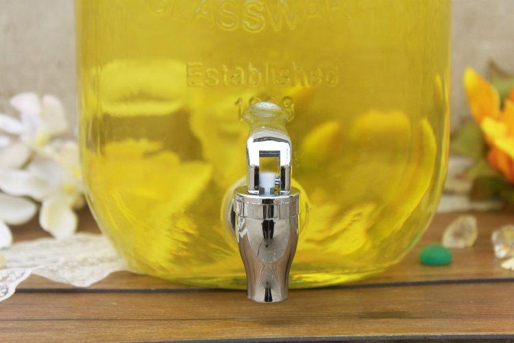 【天天特价】8升铁盖子字母果汁罐无铅玻璃带水龙头酿酒瓶酵素桶