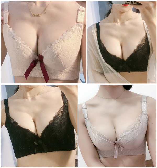 Beauty salon, small breasts gathered, women's adjustable bra, breast-receiving correction, external expansion, upper support, sagging thin underwear, summer