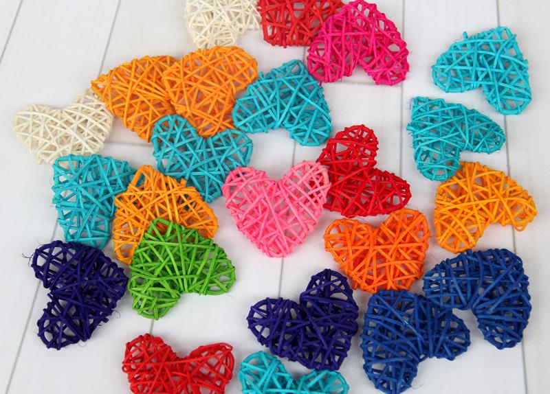 五角星心形藤球彩色球挂饰装饰幼儿园商场咖啡厅酒吧走廊悬挂装饰